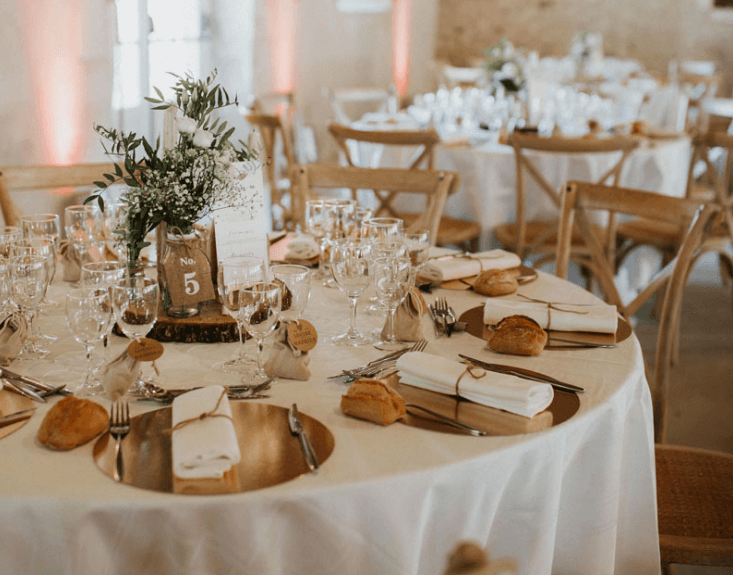 centre table mariage eco responsable